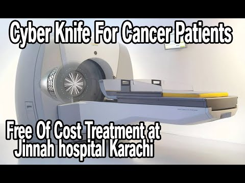 Cyber knife robot for radio surgery of cancer . Jinnah hospital,  Karachi , Pakistan