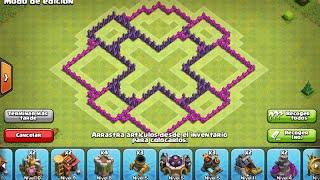 Diseño de aldea para th 7 CLASH OF CLANS