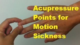 Acupressure Points for Motion Sickness and Nausea - Massage Monday #244