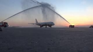 Водяная арка. Встреча Air Malta. 4 июня 2016(, 2016-06-04T10:57:36.000Z)
