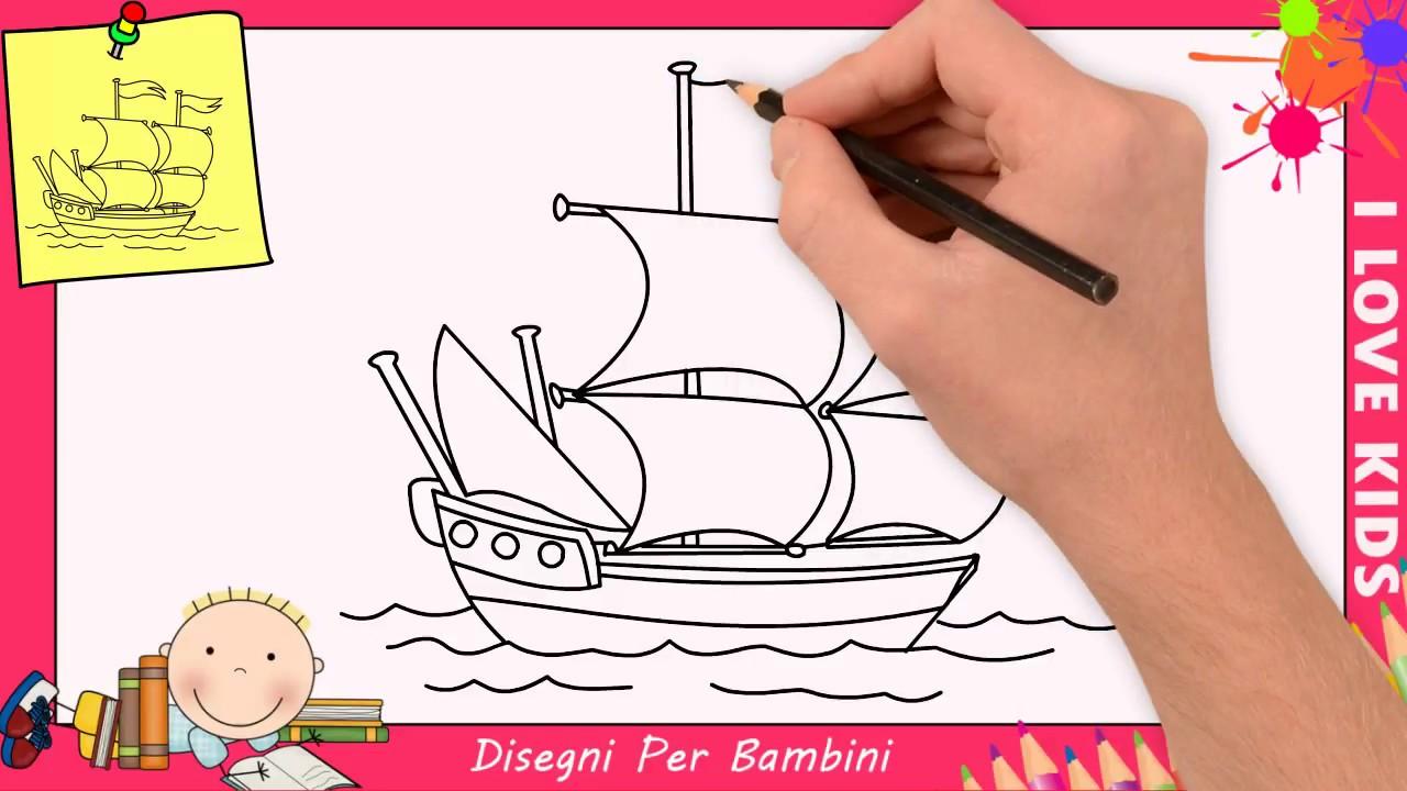 Come Disegnare Una Barca Facile Passo Per Passo Per Bambini 2
