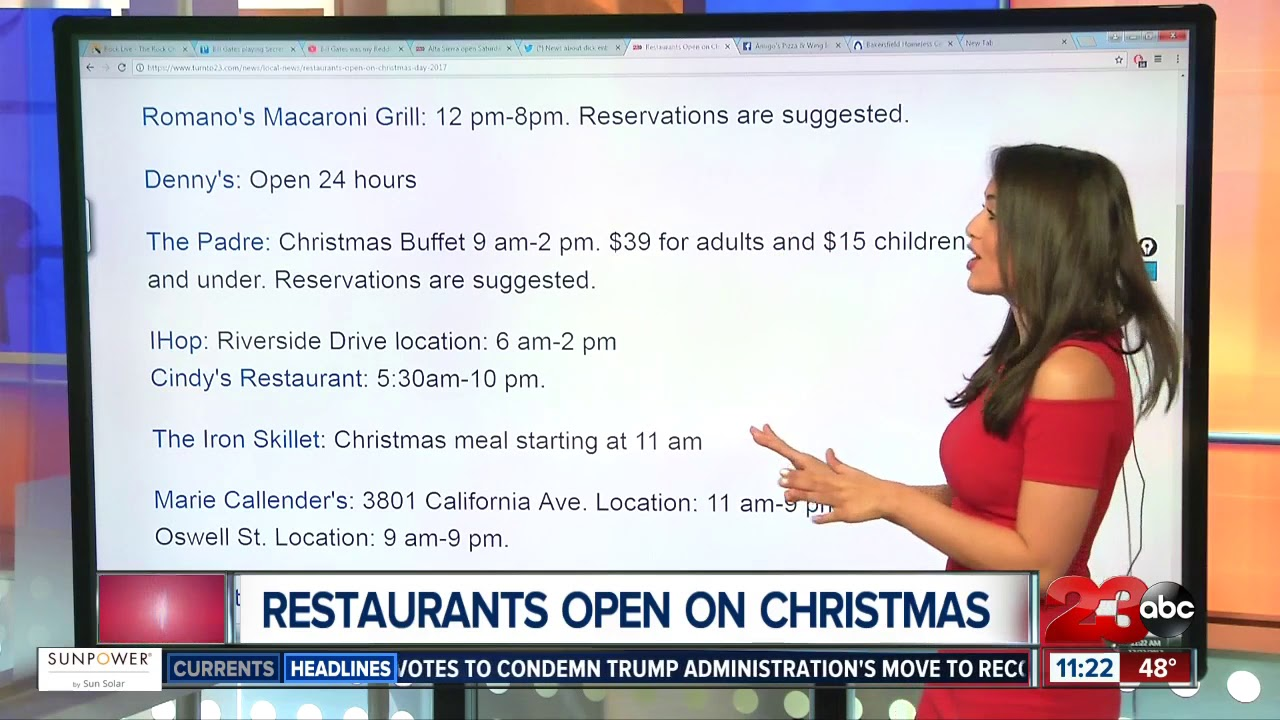Restaurants Open in Bakersfield on Christmas Day - YouTube