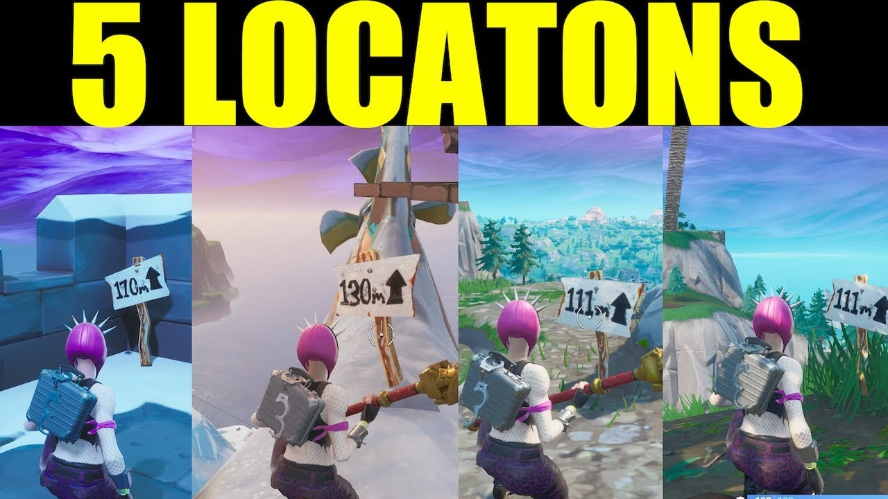 how to visit the 5 highest elevations on the island all locations fortnite season 8 - top five highest elevations fortnite
