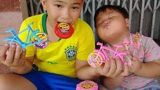 Đồ chơi trẻ em bé pin 100% kẹo mới Hubba Bubba ❤ PinPin TV ❤ Baby toys candy