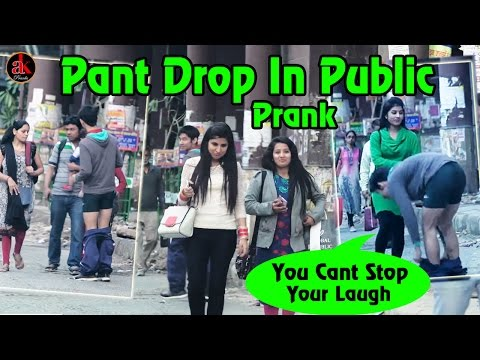 Pant Drop In Public    Falling In Public-Can't Stop Your Laugh //India Laughing Revolution-AK PRANK