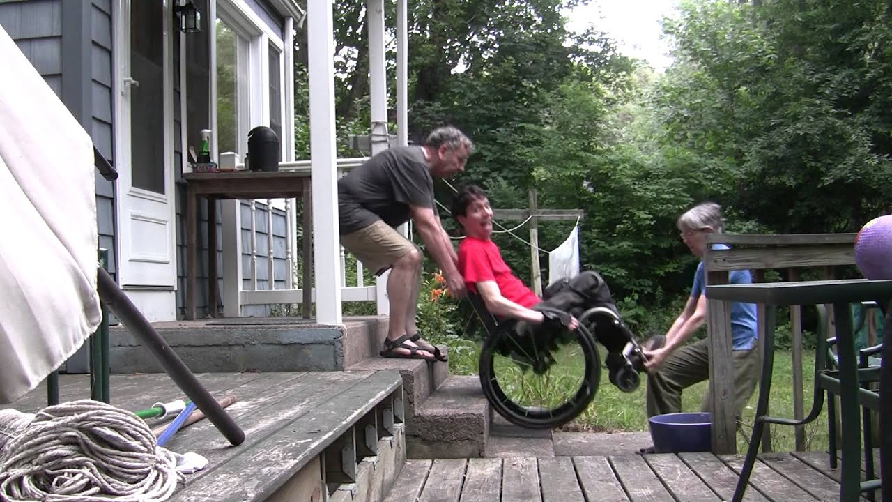 Getting Assistance Wheelchair Down Amp Up Stairs While