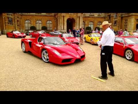 Ferrari Enzo arriving at Waddesdon Manor, Ferrari Owners' Club UK Picnic 11 August 2013
