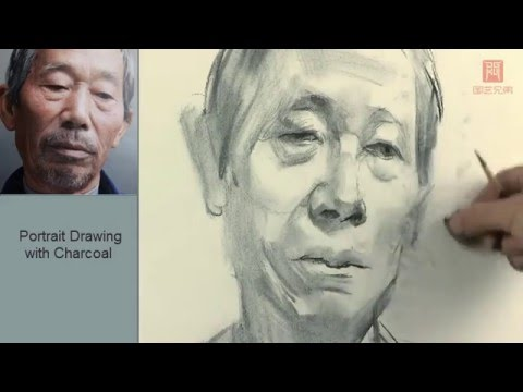 Portrait Drawing with charcoal