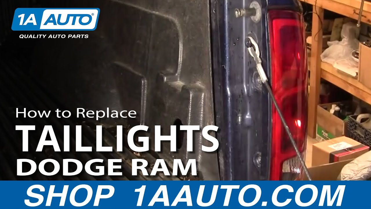 How to install repair replace broken taillight lens dodge ram 02 08 1aauto com youtube