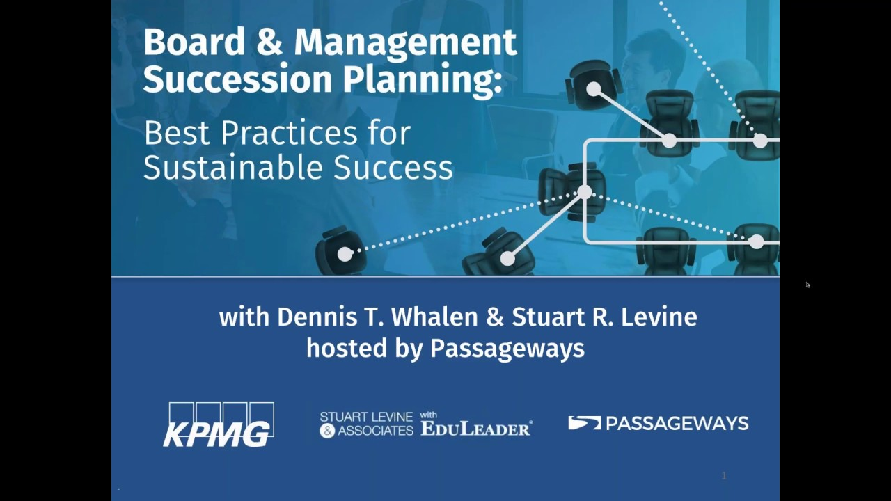 Board & Management Succession Planning: Best Practices for Sustainable Success