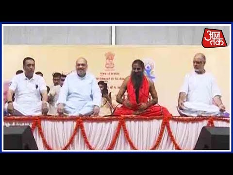 Modi Leads International Yoga Day In Lucknow; Thousands Join Despite Rains