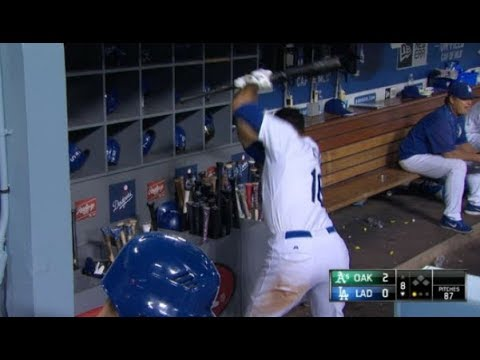 MLB Dugout Frustration - YouTube