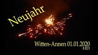 Witten-Annen: Feuerwerk Neujahr (01.01.2020), HD