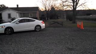 Parallel Parking with a 2012 Honda Accord Coupe