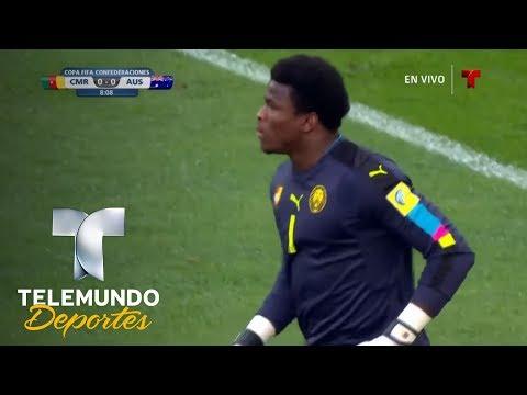Salida del portero de Camerún a lo Manuel Neuer