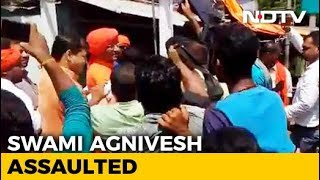 Social Activist Swami Agnivesh Allegedly Assaulted By BJP Workers In Jharkhand