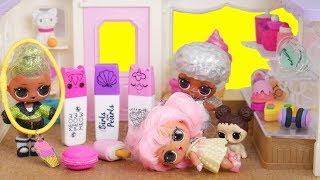 LOL Surprise Whats in my Bag Store with Barbie Family Goldie