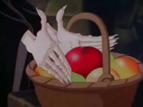 Snow White Evil Queen Prepares Poison Apple English