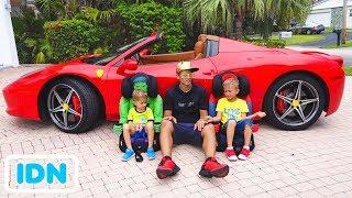Kami berada di dalam Mobil   Cerita Anak Anak dengan Vlad dan Nikita