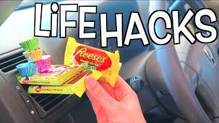 50 WEIRD Life Hacks EVERYONE Needs To Know For Your Car! Nichole Jacklyne