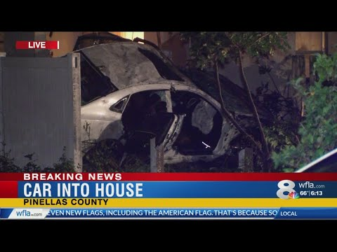 Car crashes into house in Pinellas