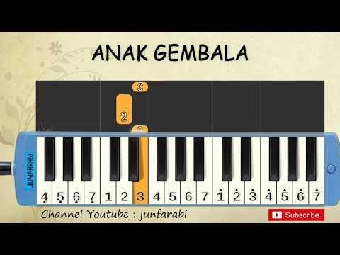Not Pianika Aku Adalah Anak Gembala - Tutorial Belajar Pianika Lagu Anak - Not Angka Anak Gembala