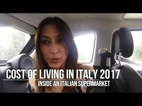 Cost of living in Italy - Inside an Italian supermarket