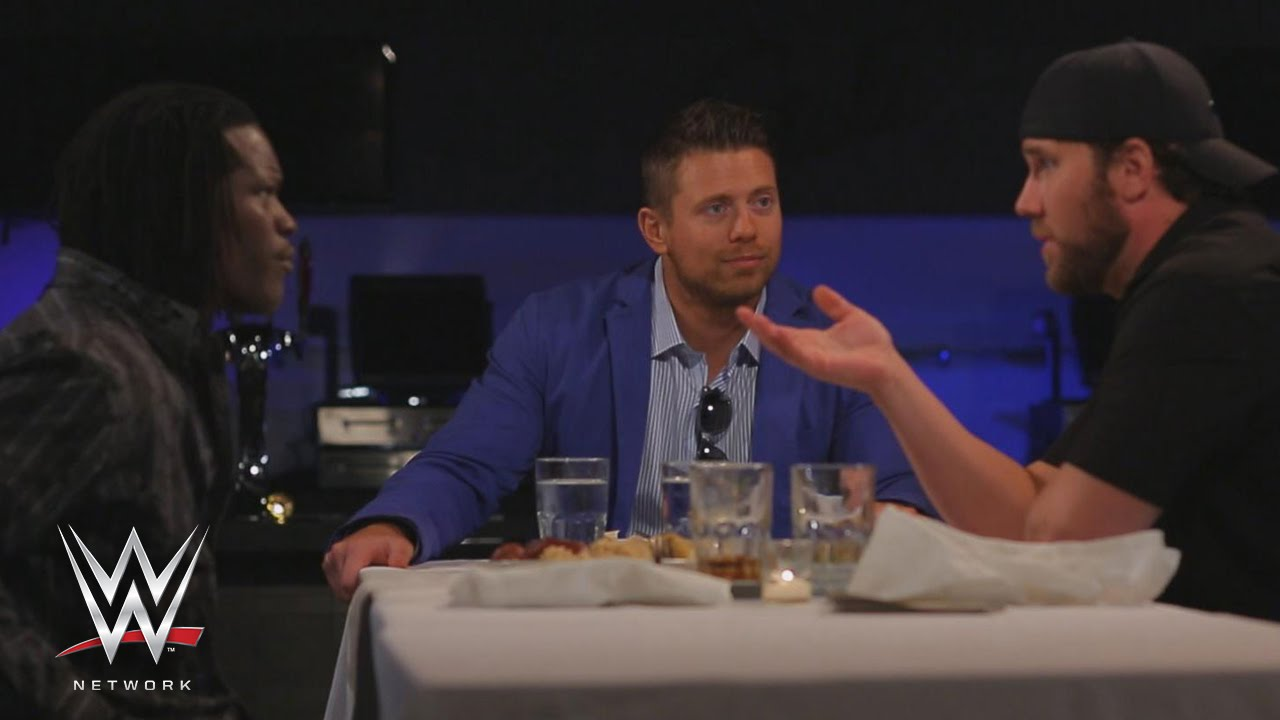 wwe network miz recalls rapping for r truth on table for 3 youtube. Black Bedroom Furniture Sets. Home Design Ideas