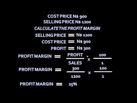 Profit Margin and Mark Up