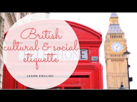 British Cultural & Social Etiquette