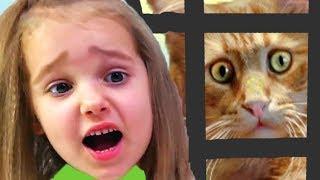 КРАСНЫЙ ШАР МИСС КЕЙТИ против зомби, спасаем кошку Мурку, мультик игра Детский летсплей #9