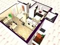 2ª opción de  reforma virtual de vivienda en Badalona