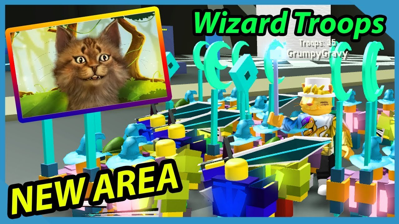 *New* Depths Area And Wizards Troops In Roblox Army Con