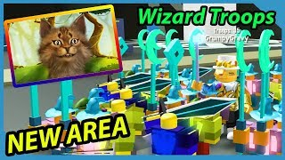 *NEW* DEPTHS AREA AND WIZARDS TROOPS IN ROBLOX ARMY CONTROL SIMULATOR UPDATE!!