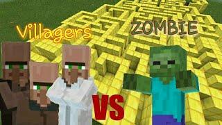 Zombie v.s Villager (Minecraft PE)