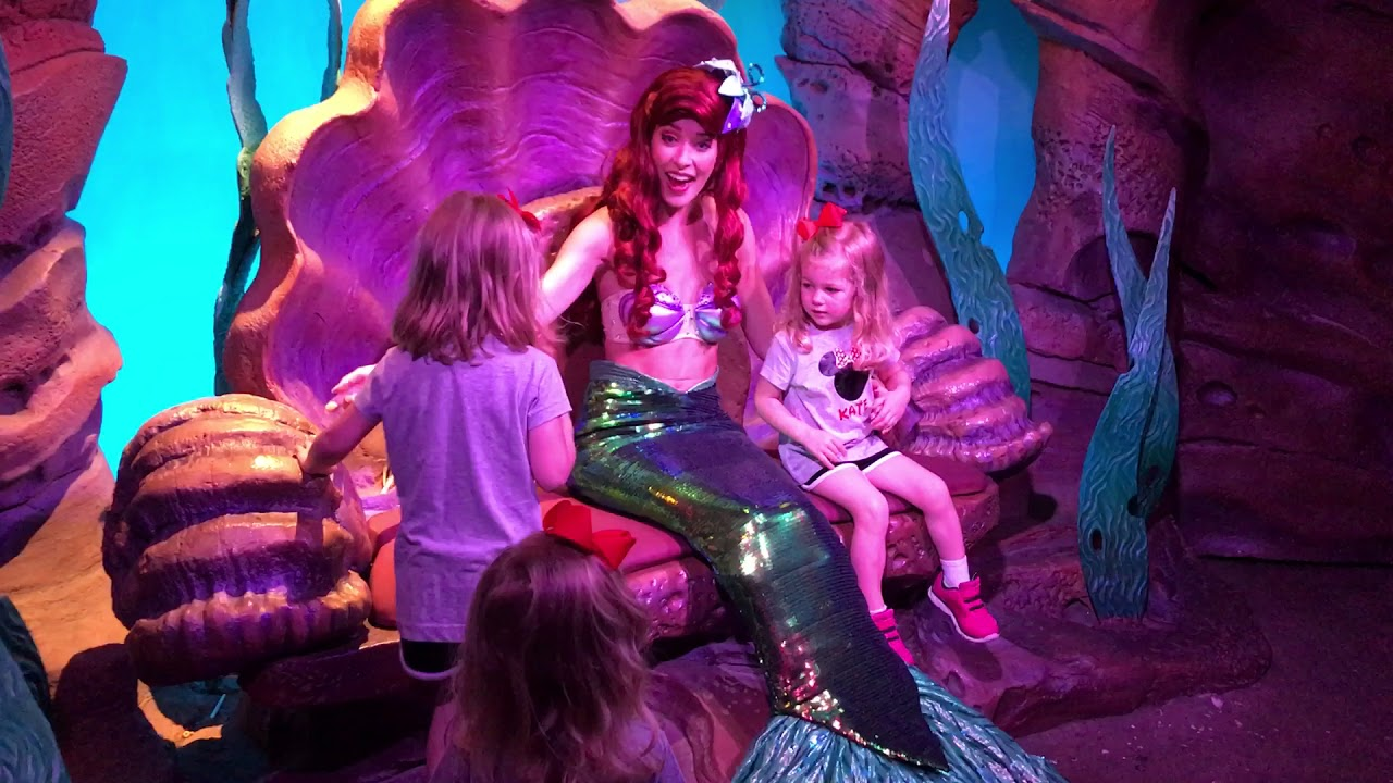 Ariel meet and greet walt disney world magic kingdom youtube ariel meet and greet walt disney world magic kingdom m4hsunfo