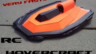 RC Hovercraft (Very Fast) Made From Spar...