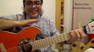 Flamenco chords from the scratch 1 for you! beginners level guitar lesson by Ruben Diaz Málaga Spain