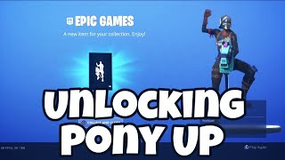Fortnite (BR) - Unlocking Pony Up