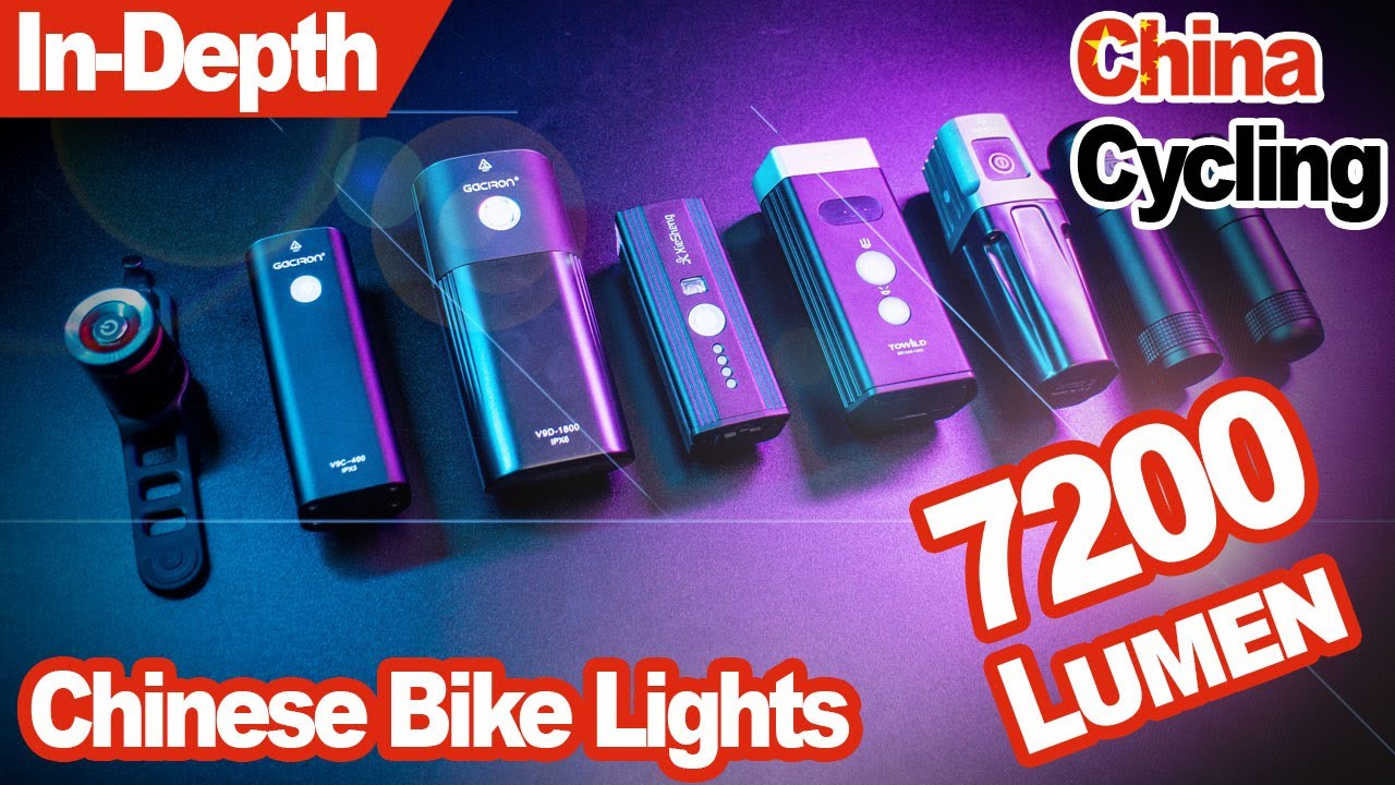 Are Chinese Bike Lights Any Good Massive Comparison Test Youtube