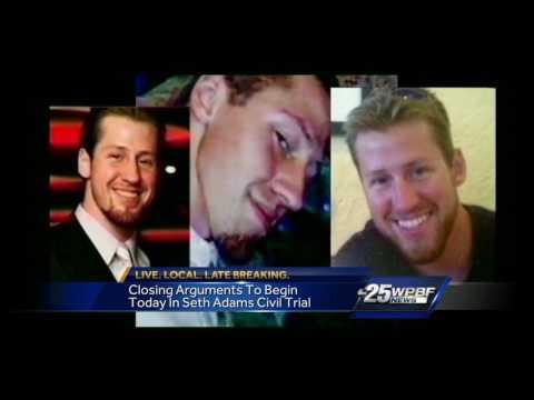Closing arguements underway in Seth Adams civil trial
