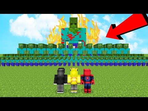ISMETRG VS 1000 TANE KORKUNÇ ZOMBİ ORDUSU! - Minecraft