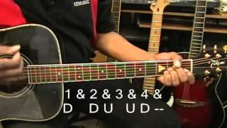 Guitar CLOSE UP 2NE1 Style Strumming Pattern Guitar Lesson EricBlackmonMusic