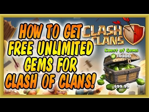 Clash Of Clans  How To Get UNLIMTED Gems  ( No Survey/No Password) WORKING APRIL 2017
