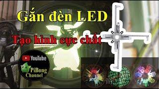 Dương Vlog   Gắn đèn LED bánh xe đạp tạo hình tạo chữ cực chất   Test Led wheel light for bicycle