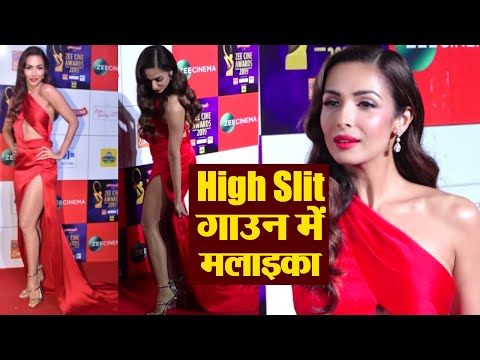 Malaika Arora stun in Thigh High slit Red gown at red carpet of Zee Cine Awards | Boldsky Mp3