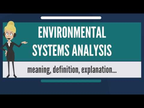 What is ENVIRONMENTAL SYSTEMS ANALYSIS? What does ENVIRONMENTAL SYSTEMS ANALYSIS mean?