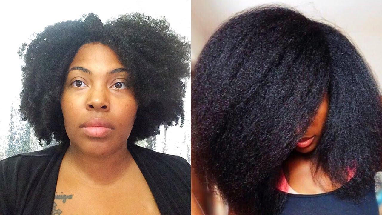 easy blowout 4c natural hair