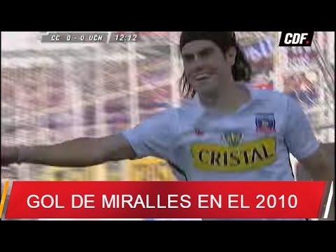 Gol de Ezequiel Miralles frente a la U en el clásico 2010