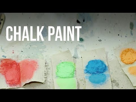 Making Paint out of Colored Chalk